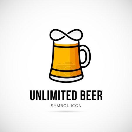 Unlimited beer vector symbol icon
