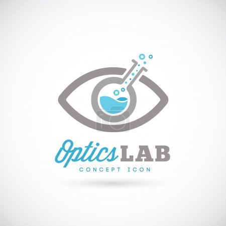 Optic laboratory abstract vector concept symbol icon