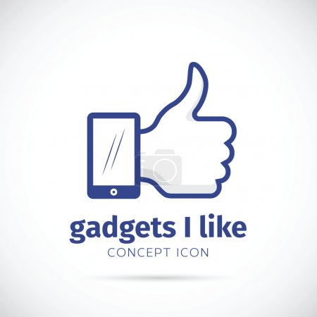 I Like Gadgets Abstract Vector Concept Icon