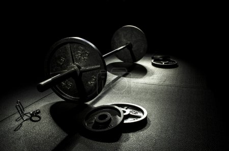 Photo for My Olympic Weights that I use for training. - Royalty Free Image