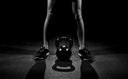 Kettle bell work standing shadow