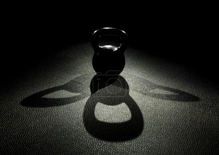 Kettle bell work shadow