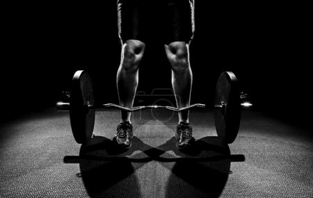 Ready to deadlift black and white