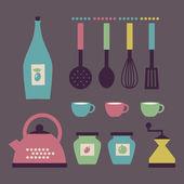 Sada kuchyňské doplňky v retro stylu