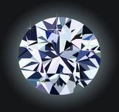 Diamond and black background