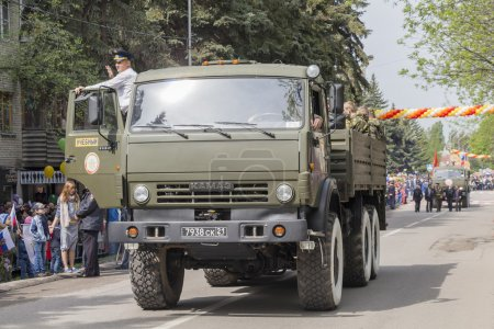 PYATIGORSK, RUSSIA - MAY 9 2014: Victory Day in WWII. Column of