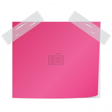 blank pink post it vector