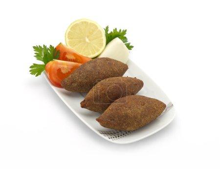 Lebanese food of fried kibe