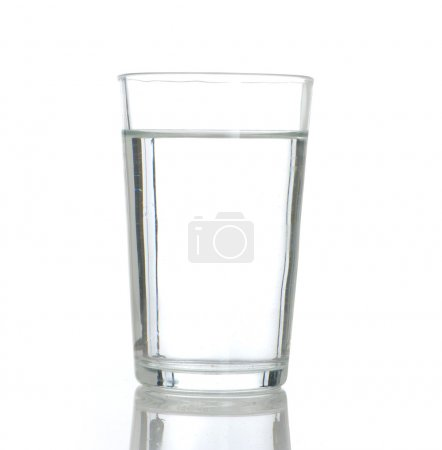 Photo for Water glass isolated - Royalty Free Image