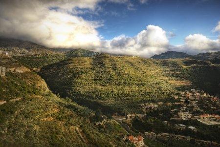 Mountain valley in Lebanon