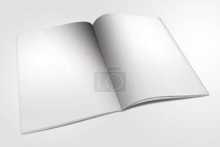 Opened empty book