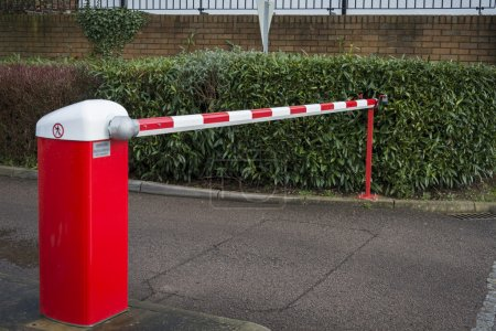 Photo for Car park barrier - Royalty Free Image