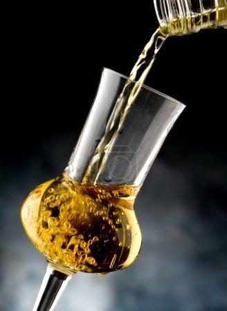 Glass with brandy