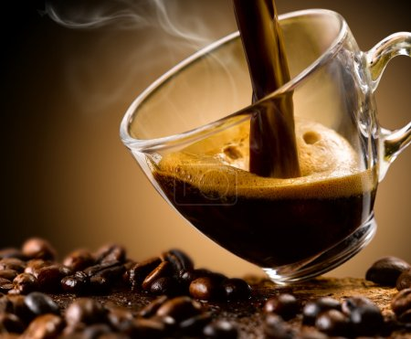 Photo for Enjoy a good coffee 'hot steaming - Royalty Free Image