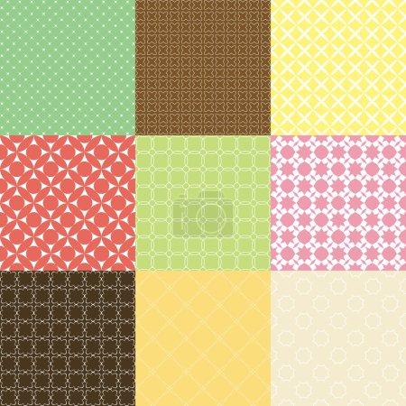 Illustration pour Ensemble de motifs géométriques, illustration vectorielle - image libre de droit