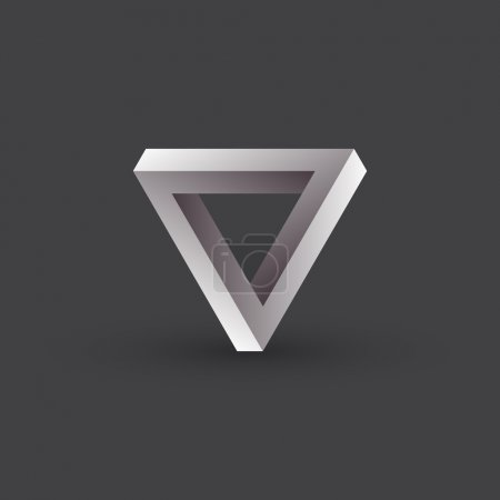 Impossible objects, triangle, vector illustration