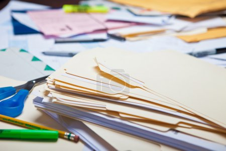 Photo for Messy Desk - Royalty Free Image