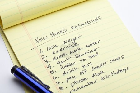 Photo for New Years Resolution List - Royalty Free Image