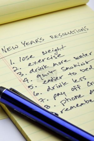 New Years Resolution List