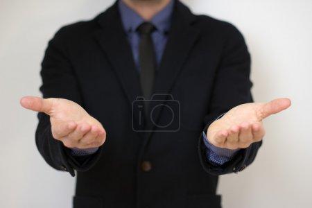 Empty hands bussines man