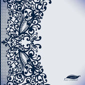 Abstract Lace Ribbon vintage vertical seamless pattern
