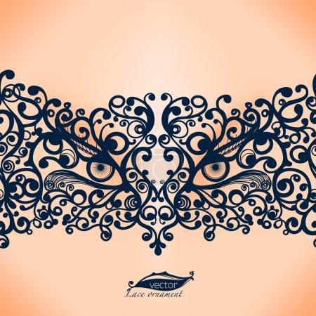 Vintage Lace Ribbon seamless pattern.