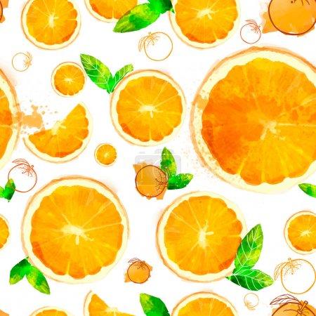 Orange seamless patterns