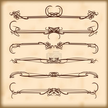 Illustration for Nouveau style ornament elegance ornate scroll pattern - Royalty Free Image