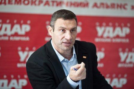 Ukrainian boxer Vitali Klitschko at the press conference