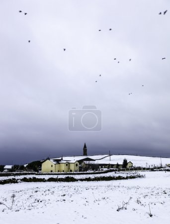 Farm house on hill - Greater Manchester England