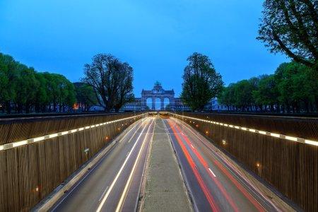Road to Arch de Triumph Brussels
