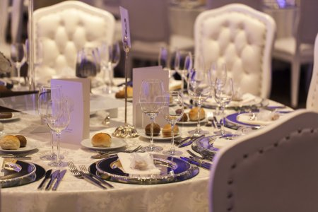 Photo for Decorated wedding table. - Royalty Free Image