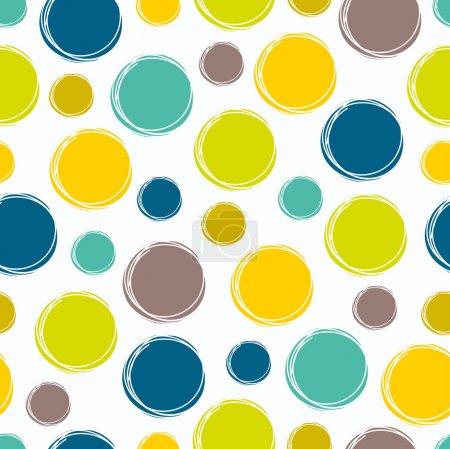 Colorful seamless pattern, polka dot fabric
