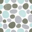 Decorative vector seamless pattern with stones....