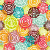 Vector seamless pattern with decorative flowers Seamless pattern can be used for wallpaper pattern fills web page background surface textures