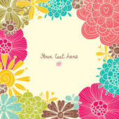 Floral background spring theme