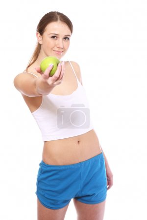 Sport woman on white background