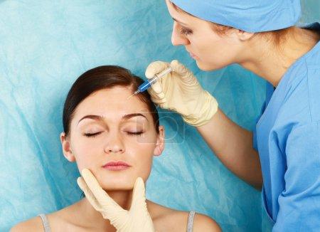 Cosmetic medicine.Botox Injection