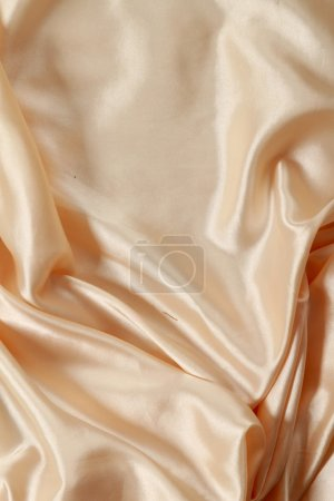Smooth beige satin