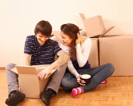 Photo for Moving in in the house - Royalty Free Image
