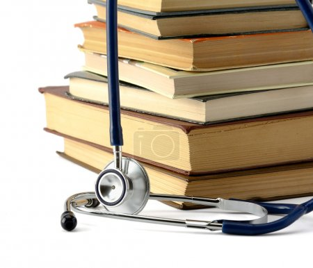 Book and stethoscope