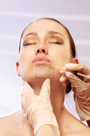 Cosmetic medicine. Injection