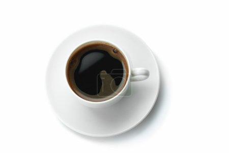 Photo pour Tasse de café isolé sur fond blanc - image libre de droit
