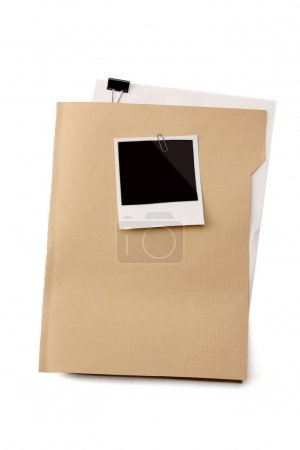 Photo for File folder with blank label for text - Royalty Free Image