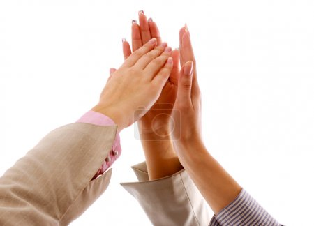 Photo for Pile of hands giving high five - Royalty Free Image