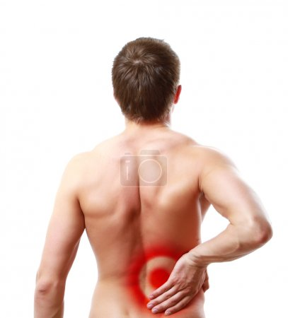 Man having pain in his back