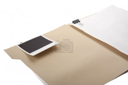 File folder with blank label