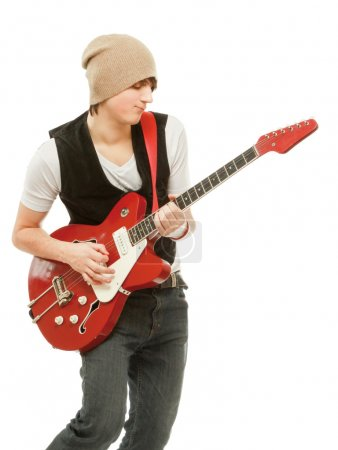 Rocker with his  guitar