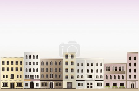 Illustration for It is an illustration of the background of the town. - Royalty Free Image