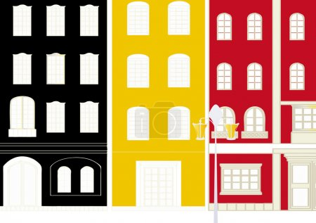 Illustration for It is an illustration of the cityscape. - Royalty Free Image